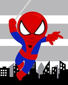 Spiderman wall art PRINT, inch high quality print, shipped to your door Spiderman Wall Art, Baby Spiderman, Superhero Wall Art, Baby Avengers, Superhero Kids, Superhero Party, Boy Room, Kids Room, Marvel Comics Superheroes