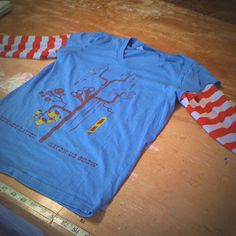 DIY long sleeve t-shirt.