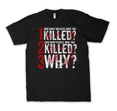 The Walking Dead Shirt - How Many Have You Killed? - Tee Zombies Dixon S-5X