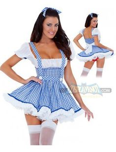 This maid costume makes you look sexy and cute. It is one-piece skirt with square neckline, suspender straps, and adjustable straps in the back to find the size you suit. Puffy skirt shows your cute appearance.