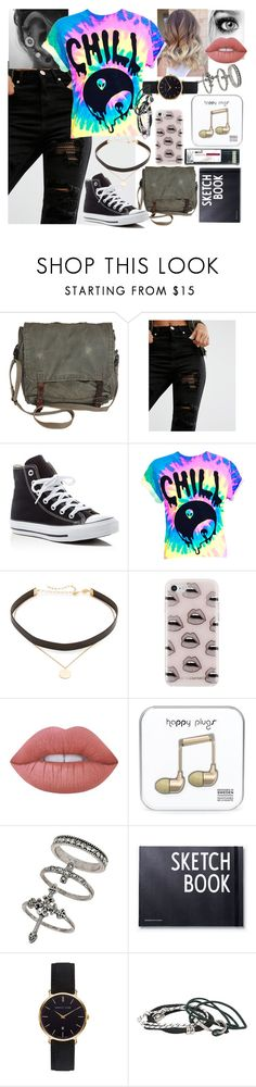 """Chill"" by blackest-raven ❤ liked on Polyvore featuring Glamorous, Converse, Jennifer Zeuner, Rebecca Minkoff, Lime Crime, Miss Selfridge, Abbott Lyon and Hot Topic"