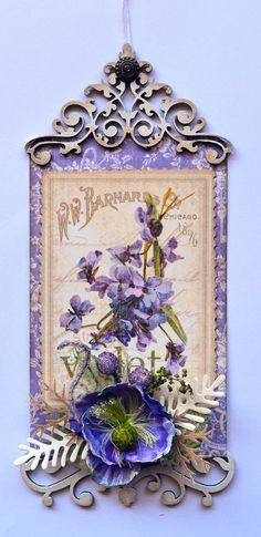 """Lovely Mixed Media Card Or Tag--Looks Fairly Easy-- By:""""Graphic 45 Design Team"""" (a talented group)"""