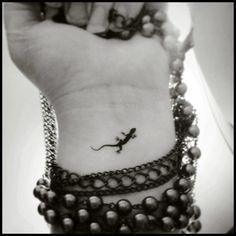 Gecko temporary tattoos set of 4 small by SharonHArtDesigns