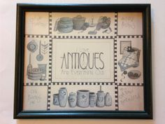 Vintage I Love Antiques and Everything Old Print by EBSVintageHome
