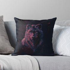 Designer Throw Pillows, Pillow Design, Top Artists, Wolf, Smile, Autumn, Art Prints, Printed, Awesome