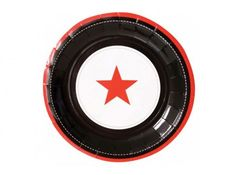 Red star & black paper plates. 12 pack. Available at www.lovetheoccasion.com.au