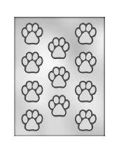 Plastic Sheet Mold - Dog Paw Prints