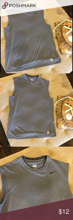 Men's Nike Pro dri fit sleeveless shirt. Size XL Men's Nike Pro dri fit sleeveless shirt. Size XL. Gray. Nike Shirts