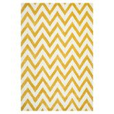 Found it at Wayfair - Cambridge Chevron Gold & Ivory Area Rug