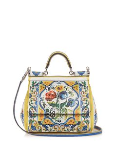 289ffa04f66 Dolce   Gabbana Sicily printed leather shoulder bag