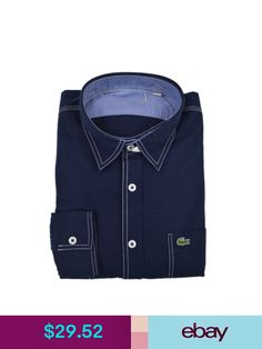Lacoste Button-Up Shirts  ebay  Clothing bc3bfa65191d