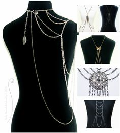 Cool body chains that can  transform your outfit to the next level. See more @  http://www.navahadijewelry.com/search/label/Body%20Chains%20by%20Nahj