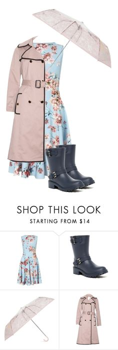 """""""Rainy Day Flowers"""" by mfkapocias ❤ liked on Polyvore featuring Miss Selfridge, Tommy Hilfiger, Moschino and singingintherain"""