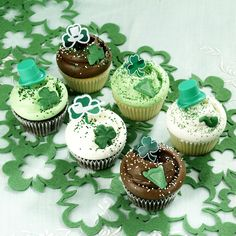 St Patrick's Day cupcakes shipped to your door!