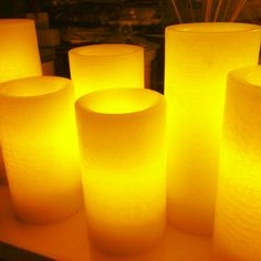 Partylite LED candles. Love how they can set the scene.