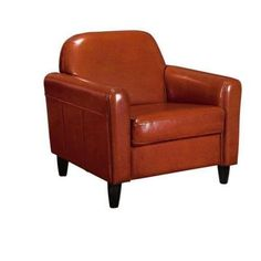 Home Decorators Collection Cannes Burnt Orange Recycled Leather Chair-7142400570 - The Home Depot