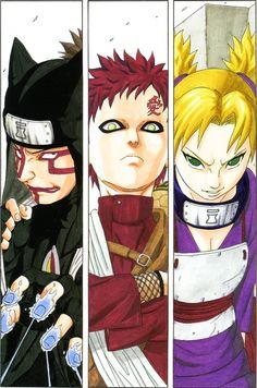 The Sand Siblings - Kankuro, Gaara, & Temari