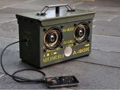 Ammo Case Boombox = Crank the Rattatat Beats!