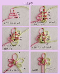 Needle Tatting Patterns, Loom Knitting Patterns, Rope Crafts, Diy And Crafts, Decorative Knots, Art And Hobby, Rope Art, Jewelry Knots, Craft Day