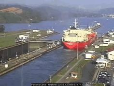 Traffic on the Panama Canal