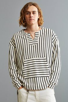 Slide View: 1: Publish Alvaro Striped Sweatshirt