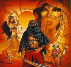 Sci Fi Horror, Horror Art, Dreams And Nightmares, Conan The Barbarian, Arabian Nights, Belly Dancers, Beautiful Paintings, Dungeons And Dragons, Character Art