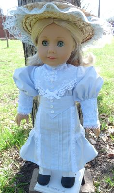 """18"""" Doll Clothes Historical Early 1900's Dress For Spring Gibson Girl Style Fits American Girl Samantha, Rebecca, Nellie. $42.95, via Etsy."""