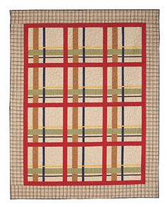 The easy piecing in this comfy quilt mimics the interwoven colors of a plaid fabric. Especially warm and cozy in flannels - such as our Quilter's Candy Basic Flannels. The Country Plaid Quilt Pattern is FREE to download at CT!