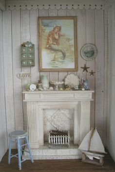 mermaid living room in miniature by Yuri Munakata