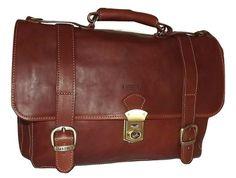 I Medici of Florence Italian Leather Double Gusset Backpack Brief Bag Brown Convertible Backpack, Backpack Straps, Designer Backpacks, Travel Luggage, Briefcase, Italian Leather, Florence, Messenger Bag, Satchel