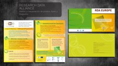 Diseño gráfico materiales corporativos Reseach Data Alliance