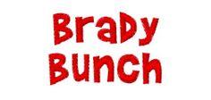 Brady embroidery font