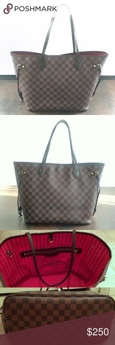 Neverfull MM Damier Ebene Please don't ask the obvious. This is in very good pre-owned condition. No stains or odors. Comes from a smoke free and pet free home. All seams and stitching are intact. This is the MM size. No trades. Bags Totes