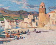 Henri-Jean Guillaume Martin (French, 1860-1943) La Tour de Collioure. | Lot 364 | Auction 2977B | Estimate $250,000-350,000