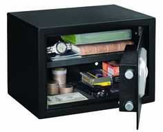 Personal Home Security Safe New Biometric Adjustable Shelf Guns Valubles #StackOn