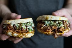 Xi'an style smushed lamb meatball burgers