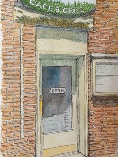 Entrance to Creekside Cafe & Grill Steamboat Springs CO Mixed Media