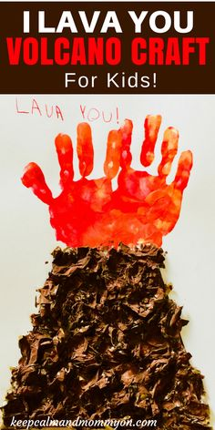 I Lava You Volcano Craft! Crafts For kids, Crafts For Preschoolers, Handmade Gifts From Kids I Lava You Volcano Craft! Crafts For kids, Crafts For Preschoolers, Handmade Gifts From Kids Holiday Crafts For Kids, Craft Projects For Kids, Crafts For Kids To Make, Easy Diy Crafts, Art For Kids, Crafts For Babies, Children Crafts, Simple Crafts, Lava