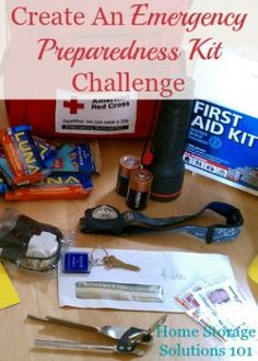 How to create an emergency preparedness kit for your family, plus other safety and emergency planning each household should do {part of the 52 Week Organized Home Challenge on Home Storage Solutions 101}