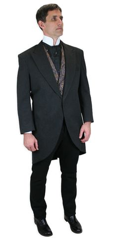 EX HIRE NAVY BLUE DOWNTON ABBEY STAGE FROCK COAT WEDDING LONG LENGTH JACKET