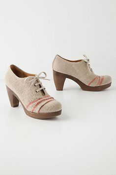 Love these...Ruletop Linen Platforms #anthropologie