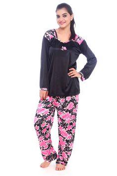 46cdccd8f Buy Fasense Women Satin Nightwear Sleepwear Pyjama Set Night Suit ... Girls  Pajamas