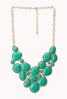 Luxe Faux Stone Bib Necklace   FOREVER21 - 1000088564 - $12.80 - online only