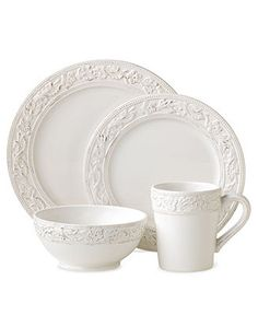 Pfaltzgraff Dinnerware, Country Cupboard 16 Piece Set - Casual Dining - Kitchen - Macy's $79.99