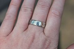 happily ever after womens wedding band ring  by peacesofindigo, $114.00
