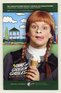 2003 brochure cover, Anne of Green Gables - The Musical™ at Confederation Centre of the Arts.