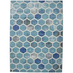 Χαλιά Καλοκαιρινά 155x245cm QUANTUM 2496B CREAM/L.BLUE
