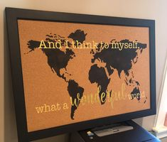 🎵 And I think to myself, what a wonderful world 🎵 Sign made with iStencils 09-00029 World Map Stencil & a custom stencil from #stencilsonline. . #istencils #wallart #customart #wonderfulworld #artwork #homedecor #custom #artoninstagram #creative #originalart World Map Stencil, Stencil Wall Art, Custom Stencils, Custom Art, World Map Design, Stencils Online, Wonders Of The World, Original Art, Art Pieces