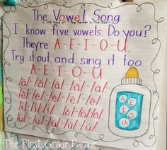 Catchy vowel song fo