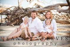 Family Photography on Driftwood Beach Jekyll Island, Georgia